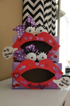 The next holiday, Valentine's Day, is just around the corner and hopefully these Valentine Box Ideas will get your creative juices flowing for your child's own Valentine box. My Sweet Valentine, Kinder Valentines, Valentine Day Boxes, Valentines Day Party, Valentine Day Crafts, Holiday Crafts, Holiday Fun, Valentinstag Party, Origami