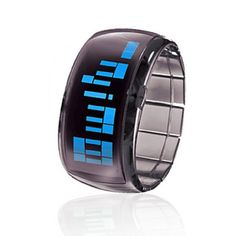 Soleasy New Bracelet Design Future Blue LED Wrist Watch  Black Wth0458 * Read more  at the image link.(It is Amazon affiliate link) #c4c