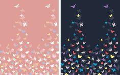 Starorůžová a modrá látka s motýlky by mohla být skvělou volbou na léto. Líbila by se Vám tota látka na letní šaty?