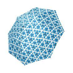 blue pattern Foldable Umbrella