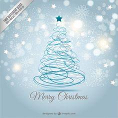 Weihnachtskarte mit abstrakten Baum