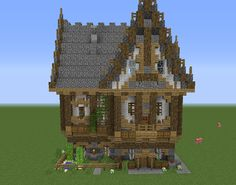 Fantasy Victorian House 1 GrabCraft Your number one source for MineCraft buildings blueprints t Minecraft medieval Minecraft houses Cute minecraft houses