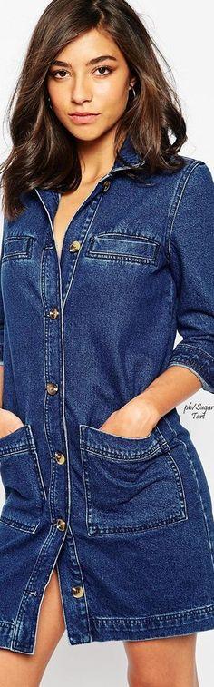 denim shirt dress .#UNIQUE_WOMENS_FASHION                                                                                                                                                                                 More