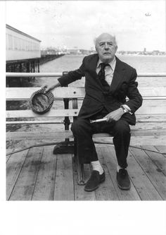 Sir John Betjeman on Southend Pier 1980 British Poets, Leigh On Sea, English Poets, 10 Picture, Famous Landmarks, My Hero, Past, Authors, Writers