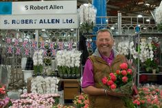 Trevor S Robert Allen at New Covent Garden Flower Market June 2016