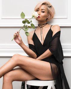 Micah Gianneli - Like a black widow  Choker by @balyckjewellery // Outfit from @windsorstore