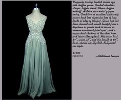 Heavenly robins egg blue silk chiffon vintage gown from The Frock