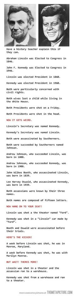 Mind blowing coincidences… so glad I found this, I heard about it years ago, weird!