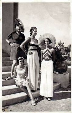 Vintage summer wear during the 1930s Bring me sunshine....