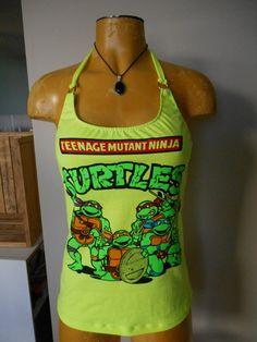 Teenage Mutant Ninja Turtles halter top DIY