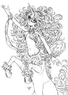 unicorn centaur by sureya on deviantart - Body Art Tattoo Designs Coloring Book