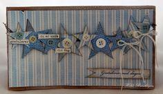 """Ark fra Herman og Emilie og stempelplaten """"ord til deg"""""""