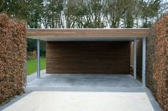 Moderne carports in hout - Livinlodge PURE                                                                                                                                                                                 More