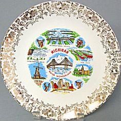 Michigan Water Wonderland Souvenir Plate