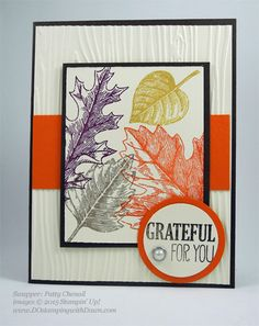 Lighthearted Leaves cards shared by Dawn Olchefske #dostamping #stampinup, Vintage Leaves (Patty Chenail)