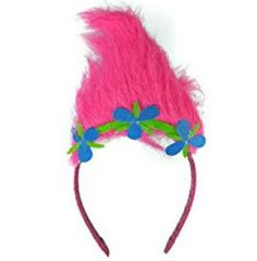 Troll costume headband makes an easy an inexpensive Halloween costume.