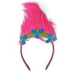 Troll costume headband makes an easy an inexpensive Halloween costume.