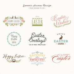 Easter Overlay design elements - for personal or photography use - INSTANT DOWNLOAD.  via Etsy.