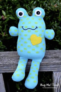 Handmade Sock Toad Stuffed Animal Sock Doll by elizabethruffing, $26.00