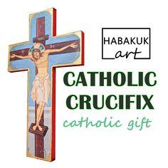 Catholic crucifix, personalized crucifix, baptisim gifts, catholic home decor, Jesus art, Jesus Christ Jesus Art, Jesus Christ, Catholic Crucifix, Catholic Gifts, First Holy Communion, Personalized Gifts, Symbols, Letters, Christian