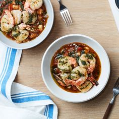 The best shrimp recipes are fancy-seeming—but they're easy too. Check out our best recipes for grilled shrimp, shrimp risotto, shrimp and grits and more. Best Shrimp Recipes, Fish Recipes, Seafood Recipes, Dinner Recipes, Cooking Recipes, Skillet Recipes, Dinner Ideas, Pizza Recipes, Epicurious Recipes