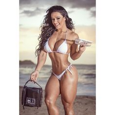 MUSCULAR CURVY DREAM BIKINI BODY of tattooed Brazilian WBFF Pro Diva #Fitness Model Sue Lasmar : if you LOVE Health, Workouts & #Fitspo - you'll LOVE the #Motivational designs at CageCult Fashion: http://cagecult.com/mma