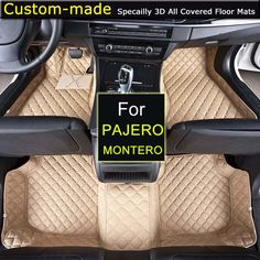 Car Floor Mats for Mitsubishi Pajero Montero V73 V77 V93 Customized Foot Rugs 3D Auto Carpets Custom-made Specially  #Affiliate