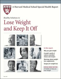 healthy solutions to lose weight and keep it off harvard