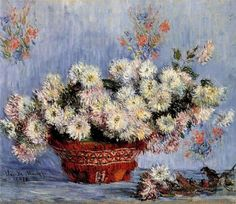 """CLAUDE MONET -FROM GIVERNY """"Chrysanthemums"""""""