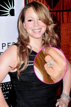 Leave it to Mariah Carey to score the biggest bling in Hollywood! The chart-topping star got a 17-carat pink diamond stunner from Nick Cannon, who worked with Jacob & Co to design the $2.5 million ring.   Click through for more celebrity engagement rings.