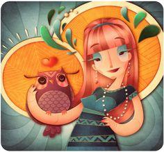Illustrations - 1 by Marianne Vincent, via Behance