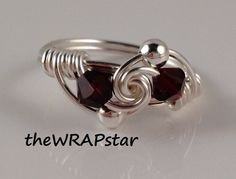 Wire Wrapped Ring Garnet Ring Wrap Ring Handmade by theWRAPstar, $14.95