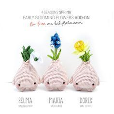 Free pattern spring bulbs by laly lala
