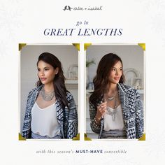 Go to great lengths with this season's must-have convertible shop my boutique at www.chloeandisabel.com/boutique/sarahcollins