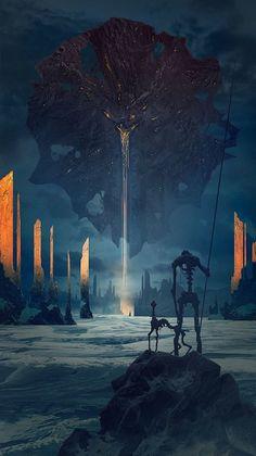As ilustrações sombrias de fantasia e ficção científica de Alexey Egorov