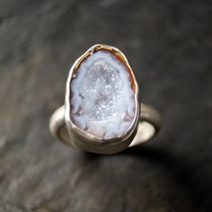 Light Lavender Druzy Geode Ring in Sterling Silver by anatomi on Etsy https://www.etsy.com/listing/219873852/light-lavender-druzy-geode-ring-in