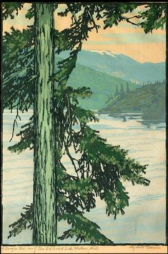 Mt. Baker, WA, 1928, wood block print Lake Whatcom, WA, 1929, block print Untitled wood block print, 1925 In the Rainforests of Washington, ca 1933 Name, date unknown Elizabeth Aline Colborne was a…