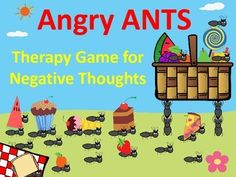 Too many ants at a picnic can be frustrating. Similar to cognitive distortions, too many Automatic Negative Thoughts (ANTS) can foster negative feelings, such as worry and anger.Below is what is included in this cognitive therapy game:1. Brief story with images describing ANT metaphor. 2.