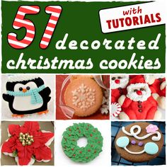 I love it when a roundup includes treats complete with recipes and tutorials! 51 Decorated Christmas Cookies - sugarkissed.net