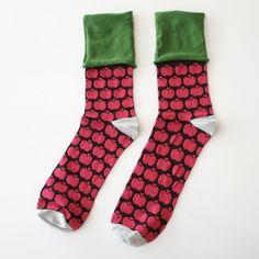 【GANGLION】mAnui別注リンゴ柄靴下(メンズ)