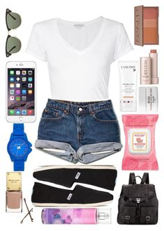 """""""ootd: last day of summer"""" by emily10563 ❤ liked on Polyvore featuring James Perse, TOMS, Ray-Ban, Vince Camuto, Proenza Schouler, Burt's Bees, Lancôme, Fresh, Urban Decay and Goody"""