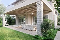 Outside Patio, House Entrance, Stone Houses, Pergola, New Homes, Farmhouse, Exterior, Outdoor Structures, House Design
