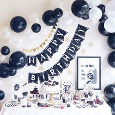 Surprise Party Decorations, Birthday Decorations For Men, Diy Birthday Banner, 18th Birthday Party, Graduation Decorations, Birthday Balloons, Birthday Party Themes, Star Wars Party Decorations, Ideas Decoracion Cumpleaños