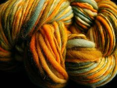 Handspun Yarn Handdyed Wool GLOWING GLASS 129yds by aspenmoonarts