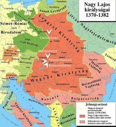 The period of Anjou Age Innsbruck, Salzburg, Hungary History, Historical Maps, Eastern Europe, Middle Ages, Geography, 1, World