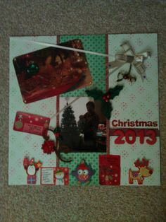 A page for my personal scrapbook on Christmas 2013