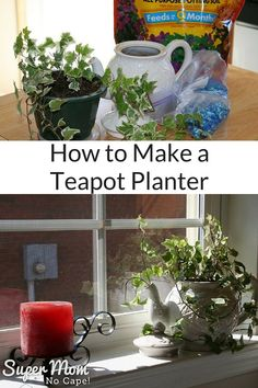 Don't throw out that old, cracked teapot. Turn it into a Teapot Planter in just a few simple steps.