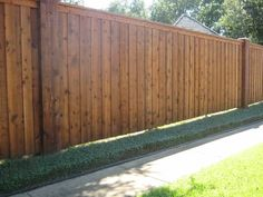 Western Red Cedar Fencing This vertical fence isn't ...