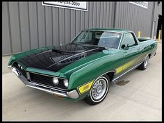 I'm more of a Chevy el Camino girl at heart but I do like this 1971 Ford Ranchero GT