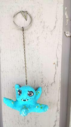 Octopus key chain handmade sea themed by ZeeesCloset on Etsy, $5.00